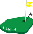 a bad lie vector image