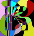 abstract color image of the guitar and lines vector image