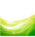 abstract line green background vector image vector image