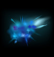 abstract powder splatted background blue powder vector image