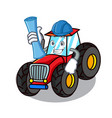 architect tractor character cartoon style vector image