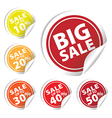 Bigsale Circle Sale up to 10 to 50 percent vector image