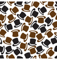 black and brown hat pattern eps10 vector image vector image