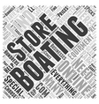 Boating Store Word Cloud Concept vector image vector image