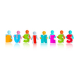 Business Colorful Title with Paper People vector image vector image