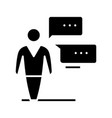business discussion black icon concept vector image