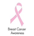 cancer support ribbon vector image