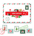 christmas seamless pattern set vector image