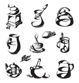 coffee and tea logo design template cup or vector image vector image