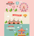 collection carnival theme banners vector image