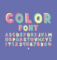 color handwritten font alphabet vector image vector image