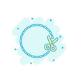 coupon cut lines icon in comic style scissors vector image vector image