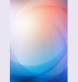 curved abstract colors background vector image vector image
