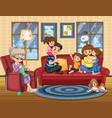 family stay at home vector image