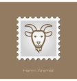 Goat stamp Animal head vector image vector image