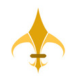 golden fleur de lys symbol vector image vector image