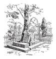 gravestone vintage vector image vector image