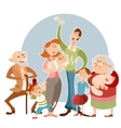 Happy big family vector image vector image