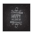 Happy halloween - typographic element vector image