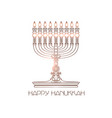 happy hanukkah detailed menorah isolated vector image