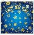 Happy new year festive lettering vector image