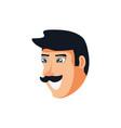 head of man avatar character vector image vector image