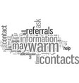 how to get referrals from warm contacts vector image vector image