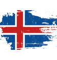 iceland scratched flag vector image vector image