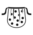 kid apron icon simple style vector image
