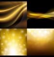 luxury golden backgrounds set vector image vector image