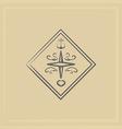 marine emblem vector image vector image