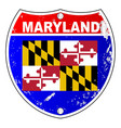 maryland flag icons as interstate sign vector image vector image