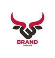 modern bull and letter b logo vector image