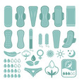 monochrome symbols of feminine care and hygiene vector image vector image