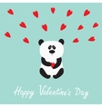Panda baby bear Cute cartoon character holding vector image vector image