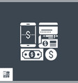 payment method related glyph icon vector image