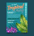 philodendron melanochrysum leaf poster vector image vector image