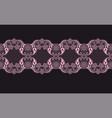 pinkk lace ribbon vector image vector image