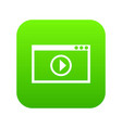 program for video playback icon digital green vector image