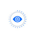 retina scan biometric recognition vector image vector image