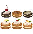 Sandwich cookies with cream vector image vector image