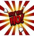 Santa hohoho Speech comic text halftone blue vector image