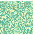 Seamless hand drawn vintage blue doodle pattern vector image