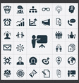 set of simple strategy icons vector image vector image