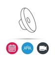 sound icon audio speaker sign vector image vector image