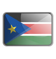 south sudan flag on white background vector image vector image