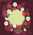 Spring floral design element vector image