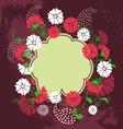 Spring floral design element vector image vector image