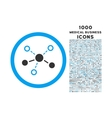 structure rounded icon with 1000 bonus icons vector image vector image