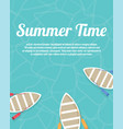 summer holiday vacation happy and enjoy vector image vector image